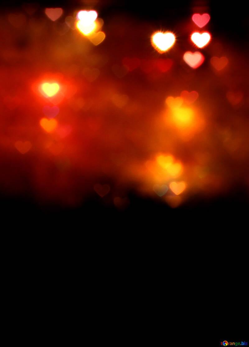 Einem dunklen Hintergrund für Karte mit Herzen №37855