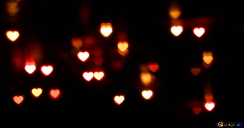 Un fondo oscuro con grandes corazones №37850