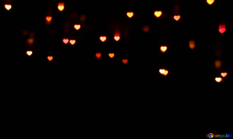 Cuori di luci su sfondo scuro №37845