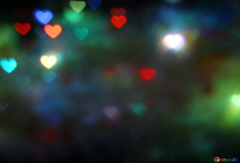 The lights in the shape of hearts №37858