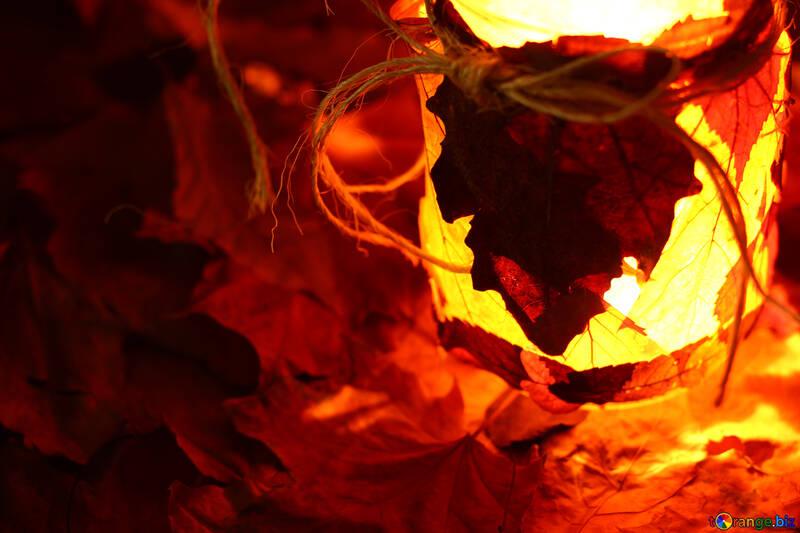 Autumn evening burning candles №37955