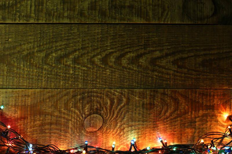 Weihnachtsbeleuchtung Kranz.Neues Jahr Kranz Auf Einer Holzwand Weihnachtsbeleuchtung