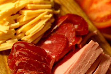 Cut sausage and cheese №38064
