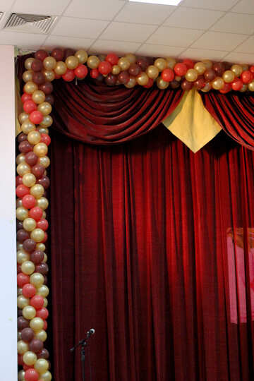 Curtains and balls №38960