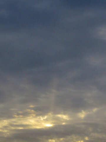 Зимний закат солнца  №38203