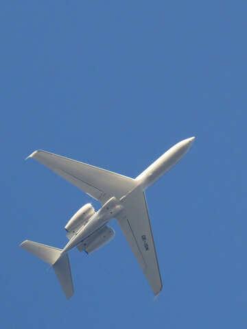 Blue Sky white plane №39171