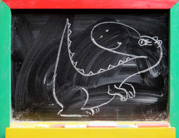 Dinosaur drawing chalk №39188