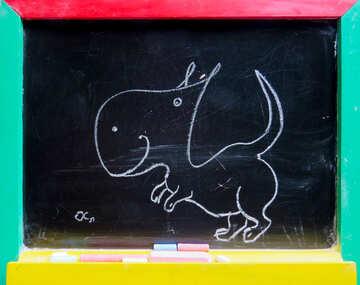 Dinosaur drawing chalk №39195