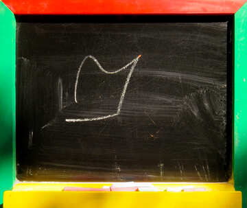Children drawing with chalk on the Blackboard №39191