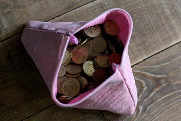 Yellow coins bag №39026