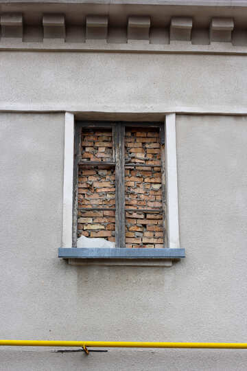 Window laid bricks №39064