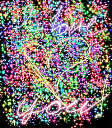 Яркий фон любовь №39949