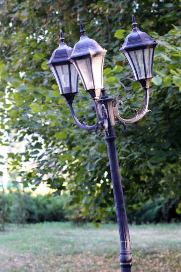 Old lantern on the lamppost №39640