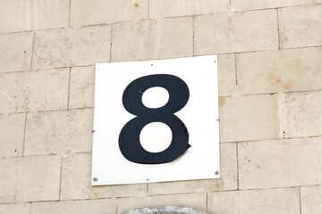 The number eight sign pointer number №39617