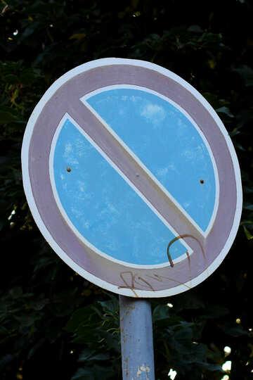 Segnale stradale di parcheggio è vietato №39638