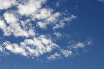 Beautiful clouds in the blue sky №39273