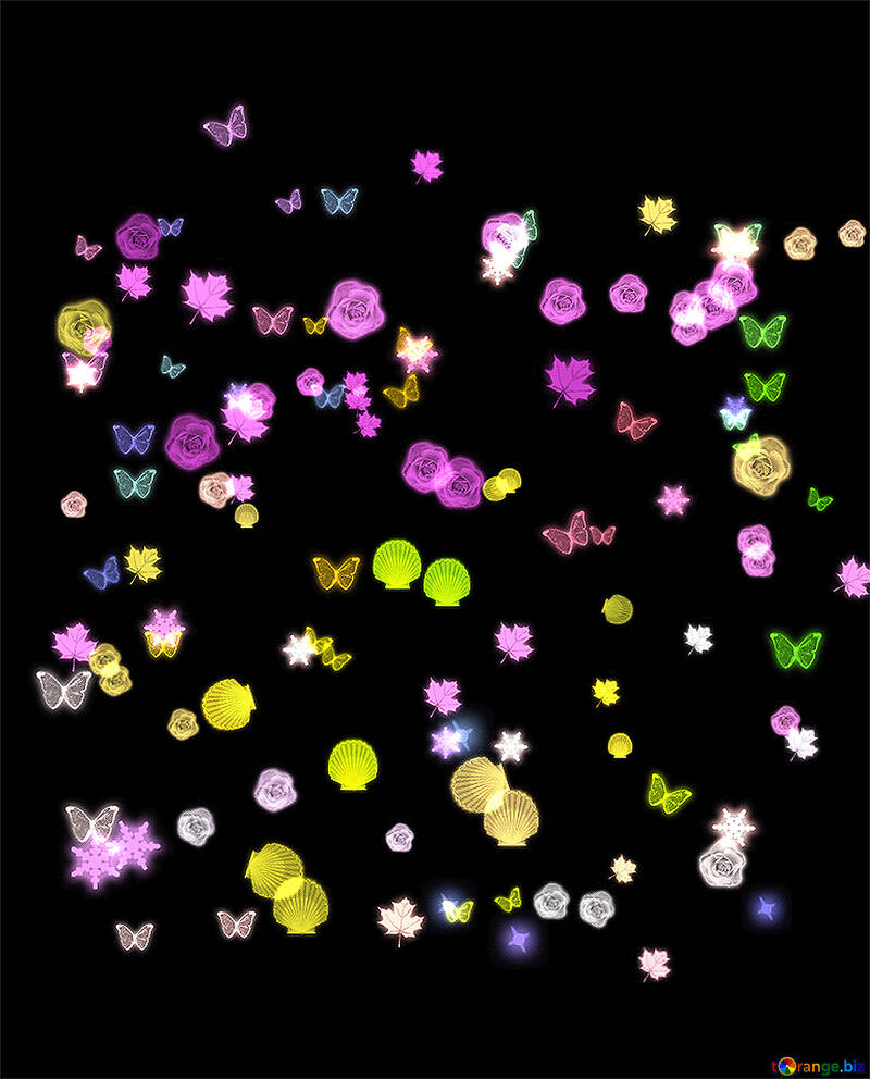 Background of flowers and butterflies №39948