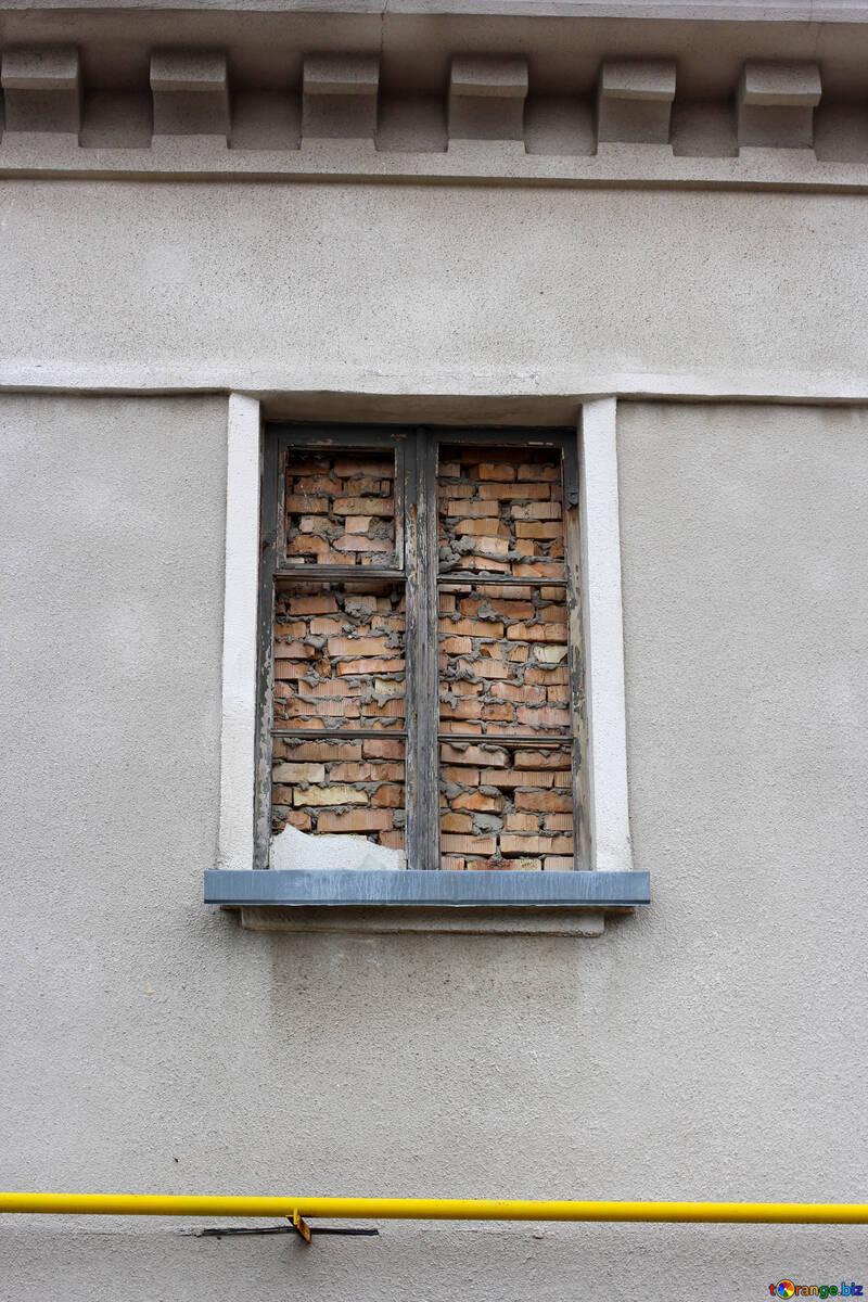 Window laid bricks №39064