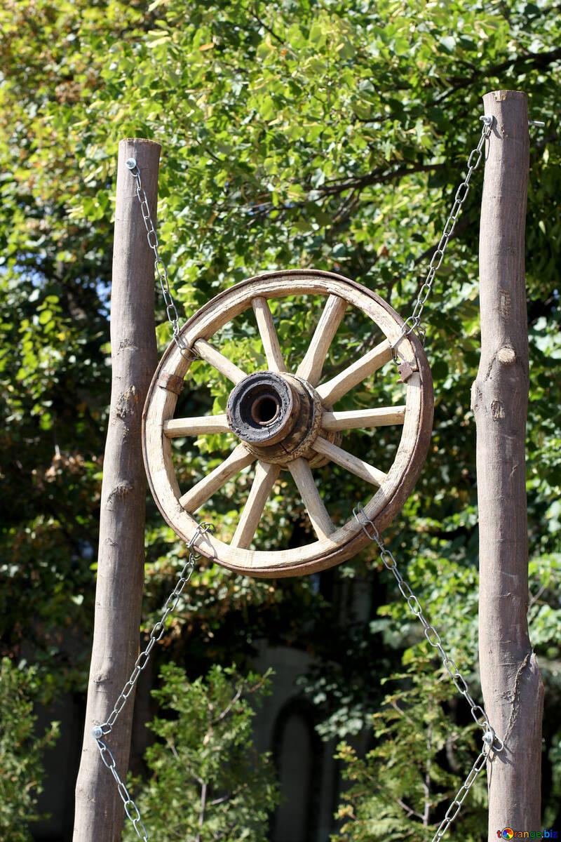 Wheel carts as decor element №39615