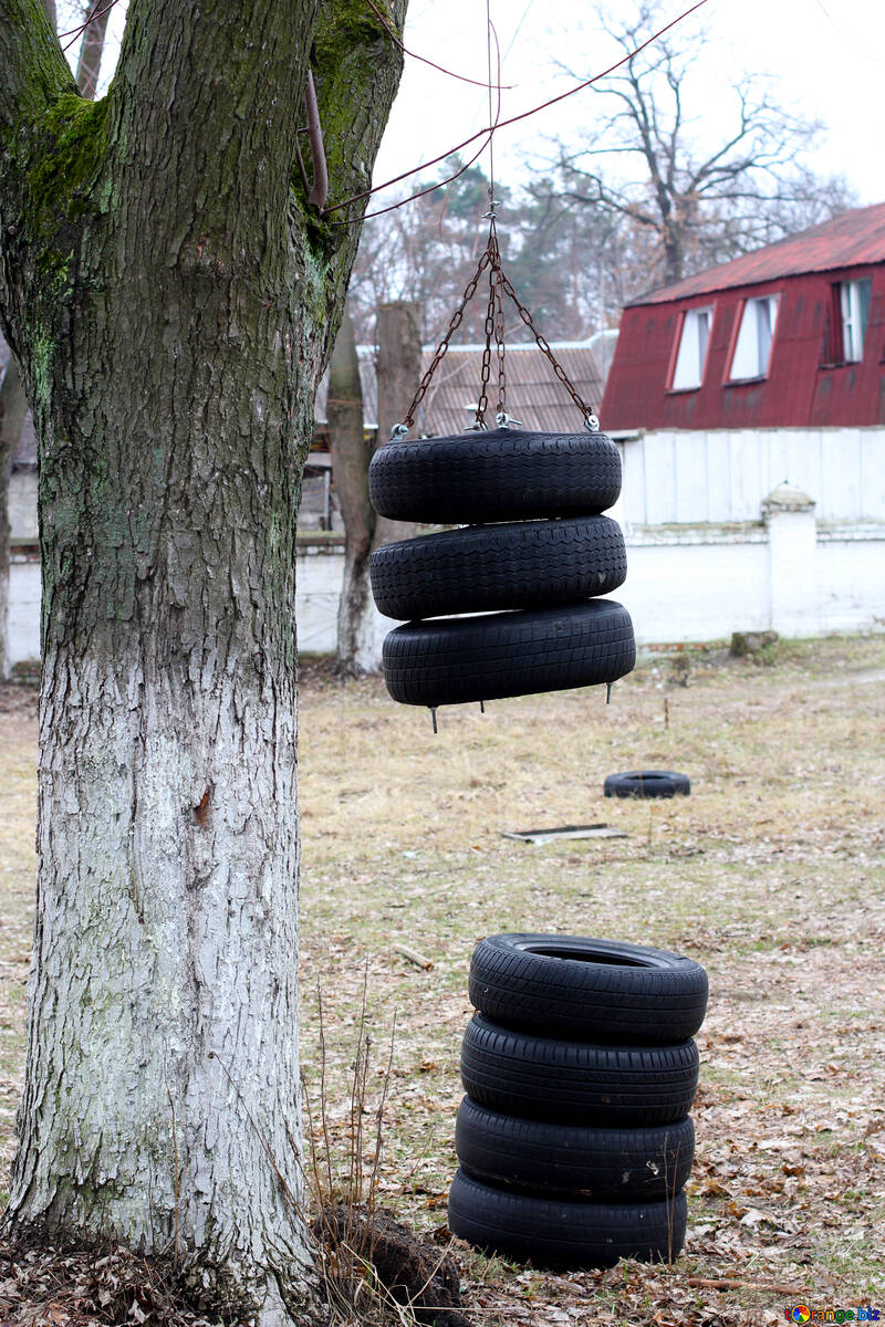 Training ground of old tires №39042