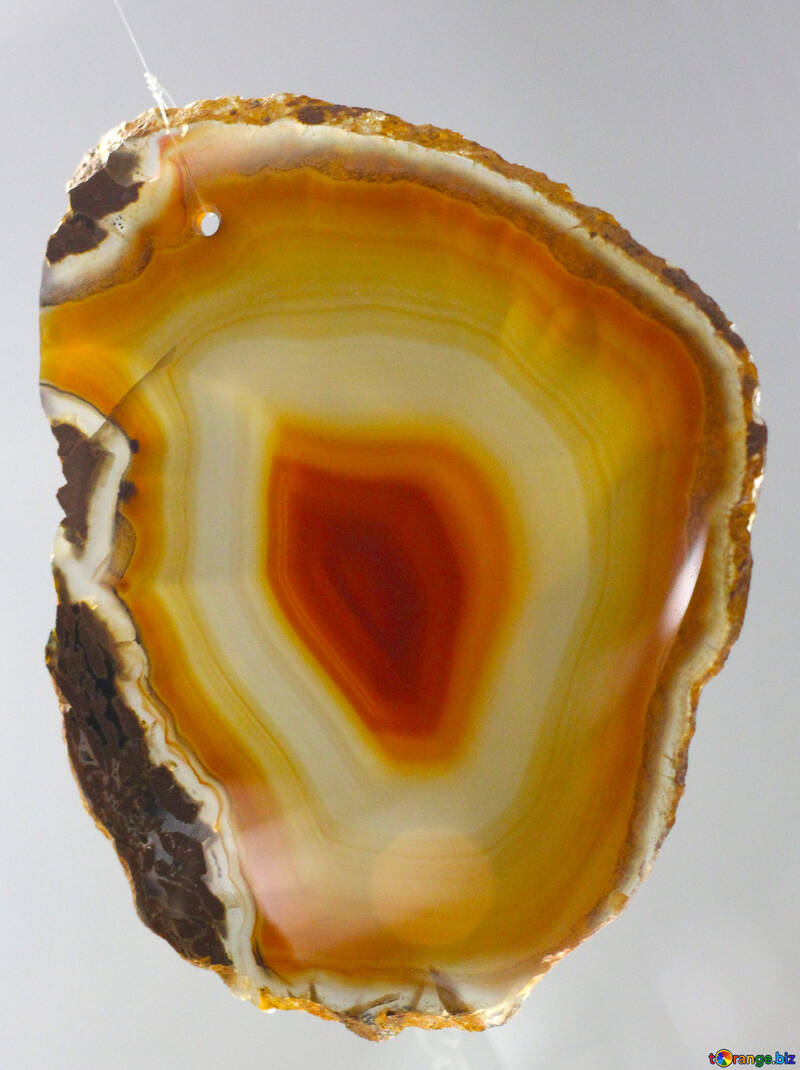 The texture of the cut stone agate №39509