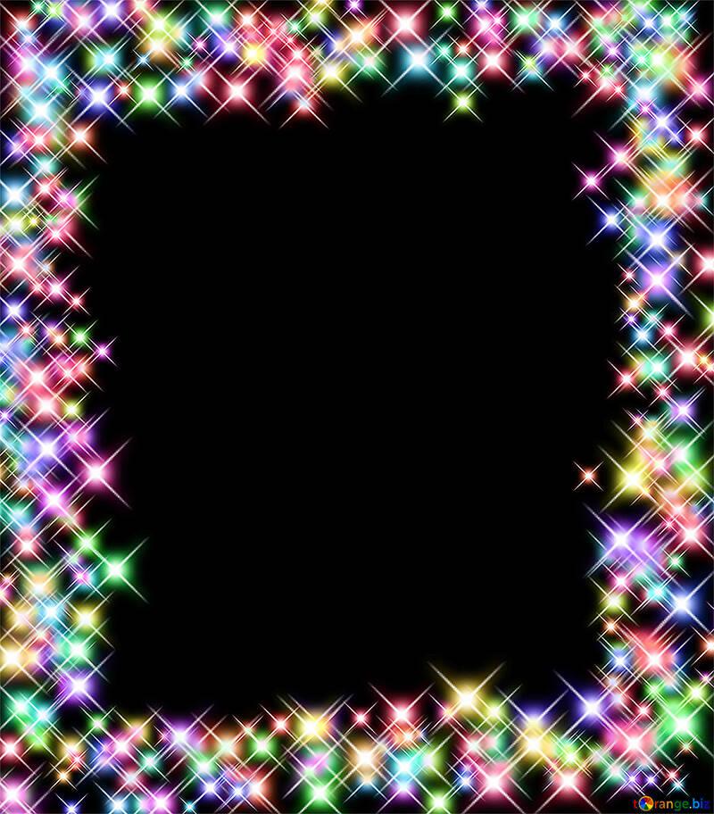 Клипарт рамка из ярких огней №39966