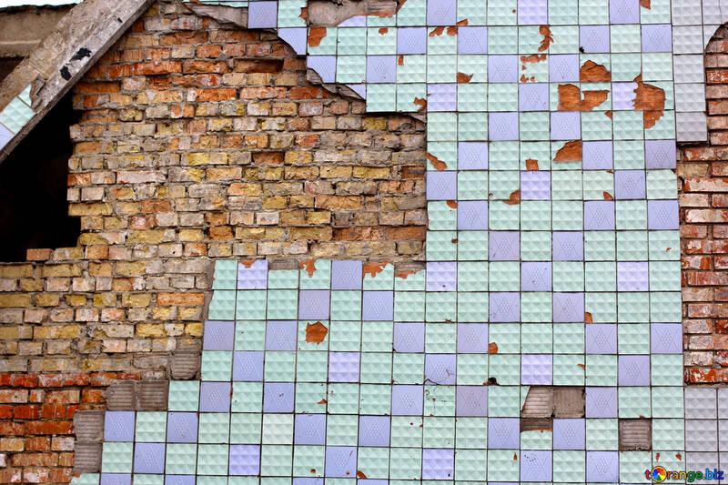 旧的外墙瓷砖的纹理 №39057