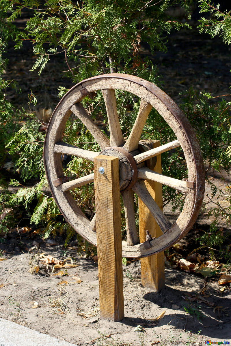 Decorative wheel carts №39614