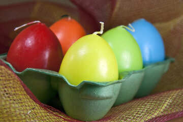 Colored eggs in tray №4340