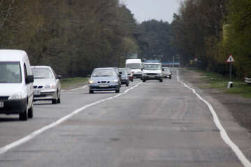 Traffic violations.Overtaking through continuous centerline №4859