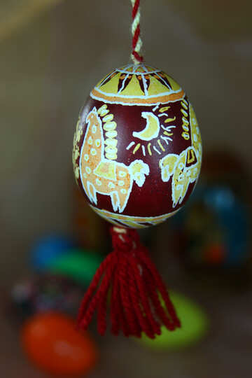 Easter eggs painted by hand. №4347