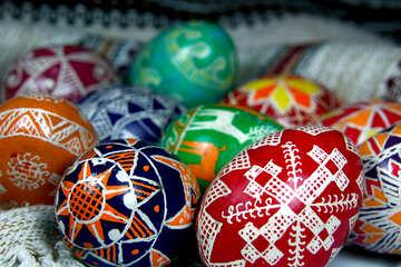 Uova di Pasqua colorate №4360