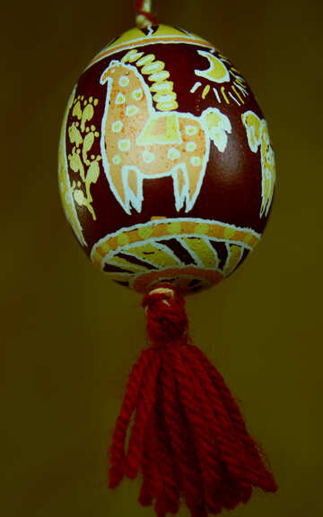 Pysanka with the national pattern №4348