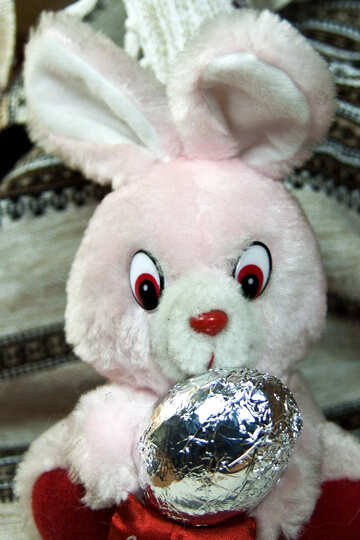 Rabbit with chocolate egg №4321