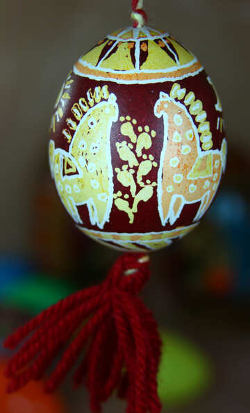 Easter Egg on string №4345