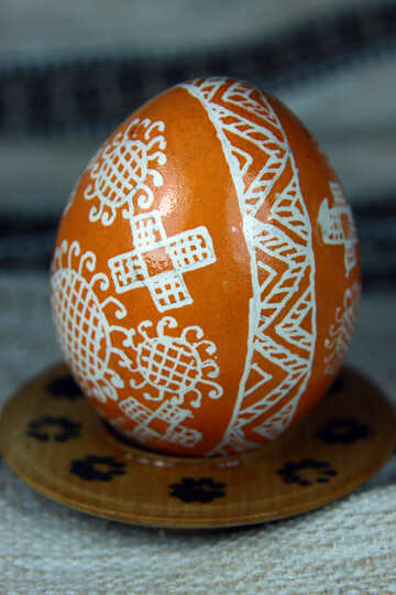 Easter egg. With the sun. Brings happiness. №4376