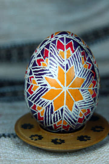 Easter egg. Symbol Star Rouge Zirka. Means the emergence of new life. №4373