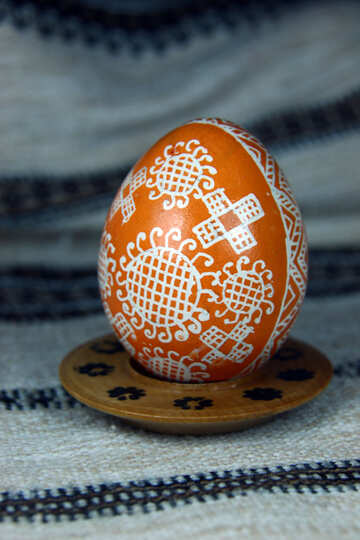 Easter egg. The symbol of the sun. Gift for good luck №4377