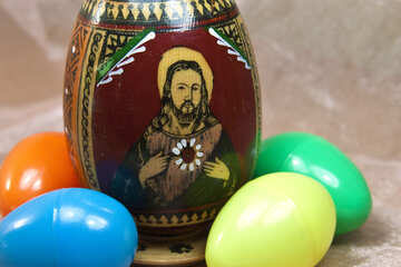 Easter image of Jesus Christ on the egg. №4336