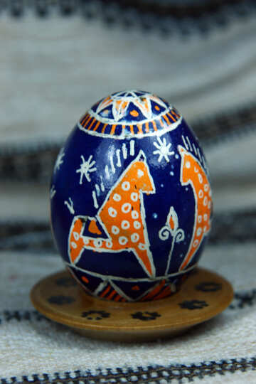Easter egg. The symbol of the horse. Symbol of faith and devotion. №4367
