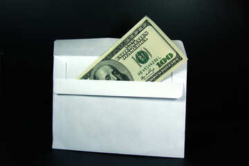 Cash dollars in an envelope. №4714