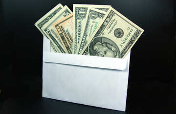 Shadow income in an envelope. Dollars. №4709