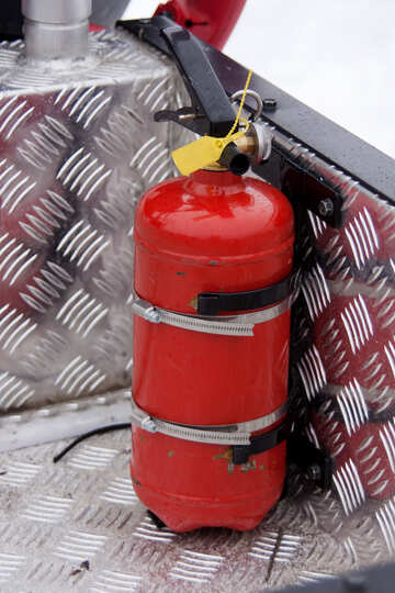 Extinguisher in the car. №4458