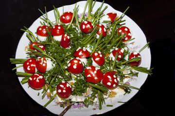 Serve quail eggs №4147