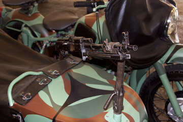 Military motorcycle with machine gun №4435