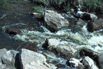 Water on stones №4748