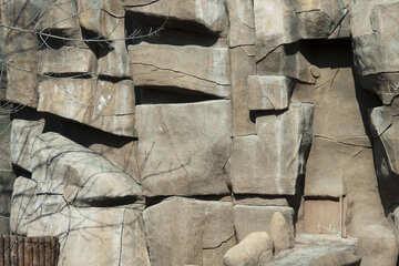 Texture crag rock №4684