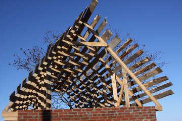 Конструкция двухскатной крыши №4015