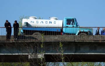 Camion di autocisterna del latte №4743