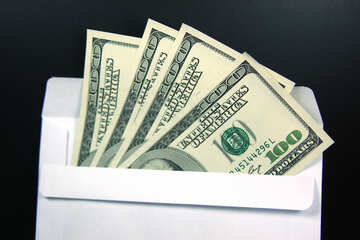 Конверт, доллары